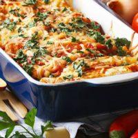 Too much turkey? Make Leftover Turkey Enchilada Casserole!