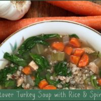 Leftover Turkey Soup with Rice & Spinach