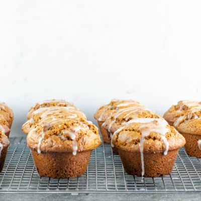 Gingerbread Muffins Recipe With Lemon Glaze