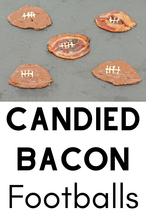 candied bacon footballs recipe pinterest image