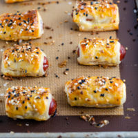 Everything Bagel Mini Pigs In  A Blanket Recipe