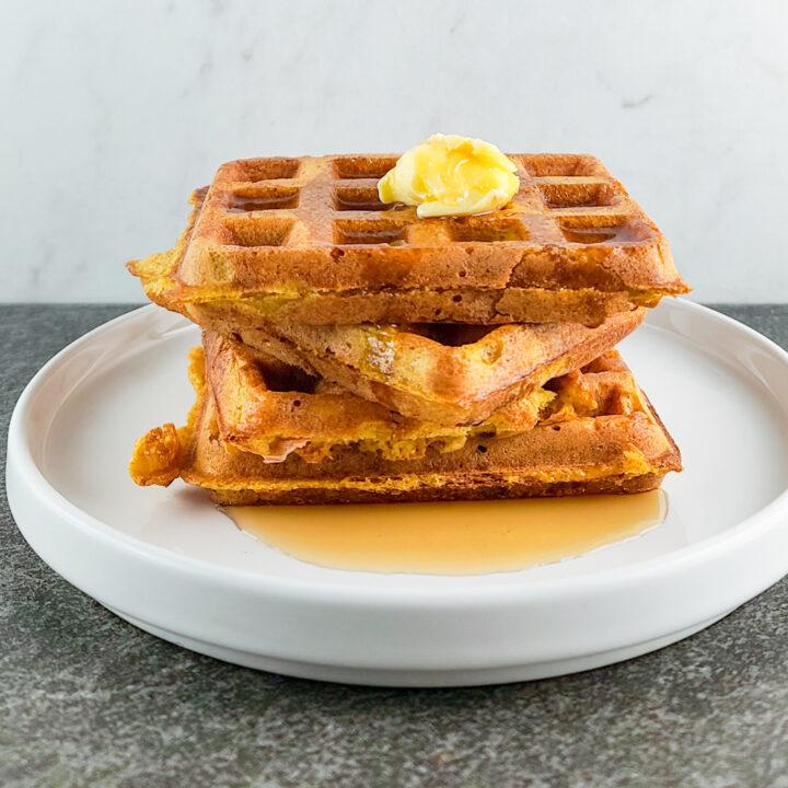 Overnight Pumpkin Waffles Recipe