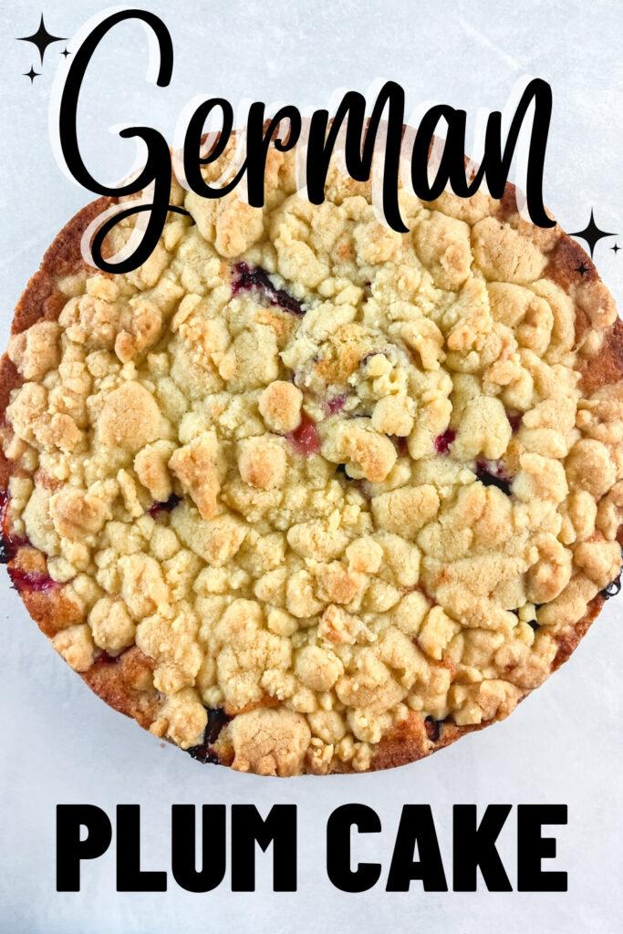 german plum cake pinterest image